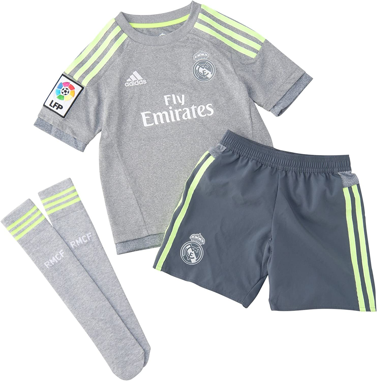 adidas Real Madrid Away Miniconjunto, niño, Multicolor (Grey/Solar ...