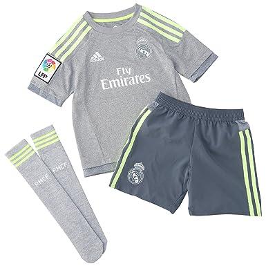 watch cb95e 28981 adidas Real Madrid Away Mini Kit Children Clothing Set ...