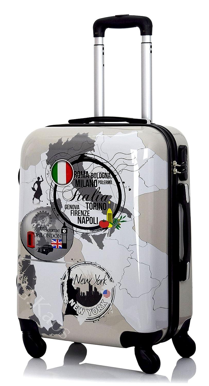 G Kaos Trolley maleta de cabina con ruedas rígida de ABS policarbonato