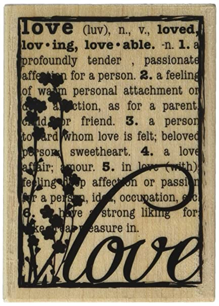 Hampton Art Hf Love Defined Wood Rubber Stamp