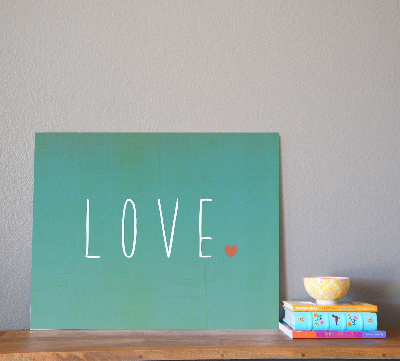 Baby Decoration Girls or Babys Room Motivational Print Word Love Kids Wall Art Love 14x11 Print for Boys Nursery Decor
