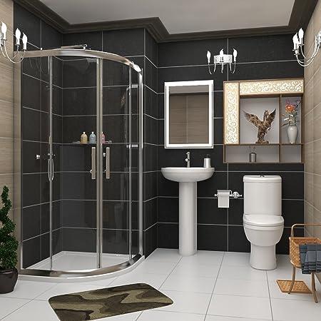 Royal Bathrooms 800 x 800mm Modern Quadrant Shower Enclosure
