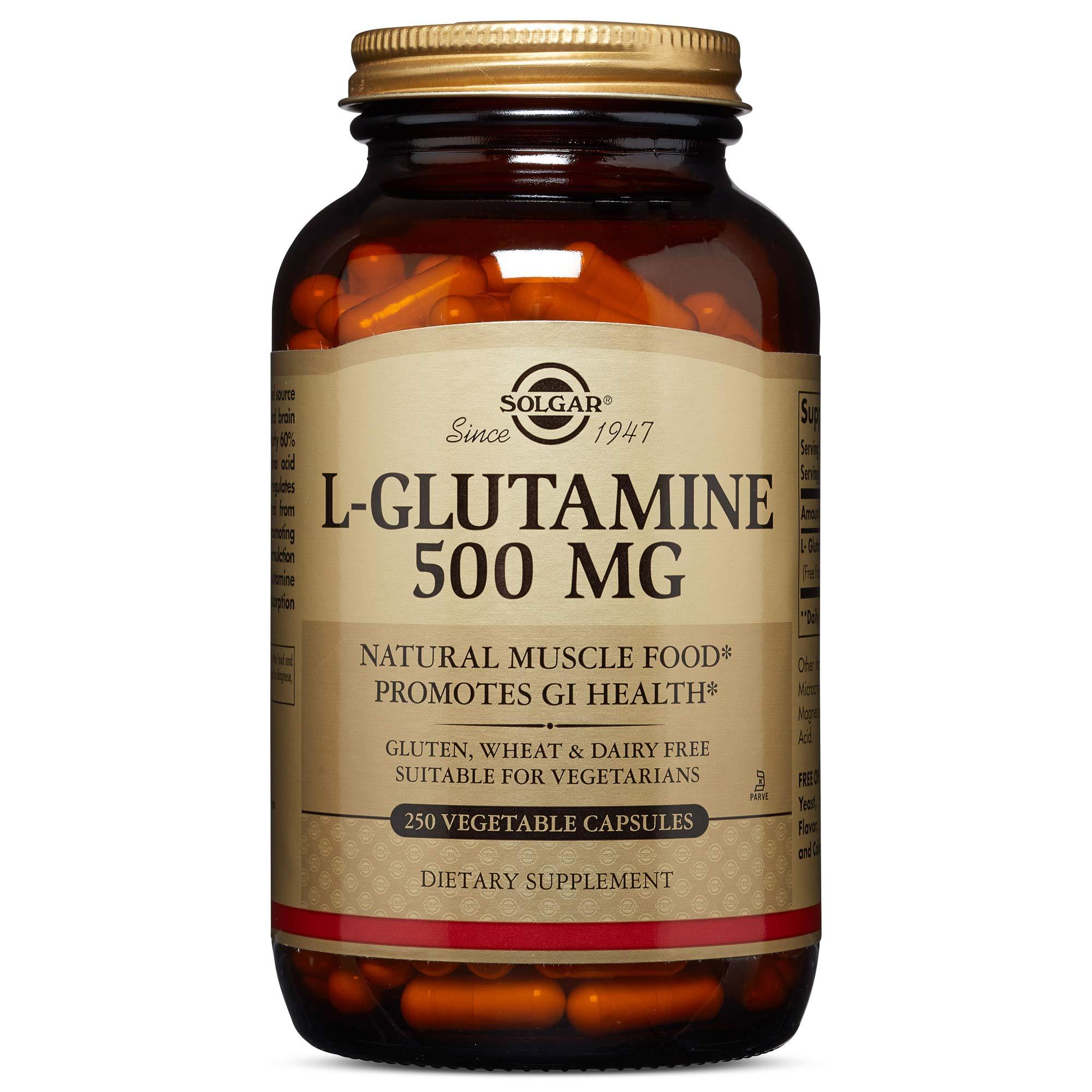 Solgar, L-Glutamine 500 mg 250 Vegetable Capsules by Solgar