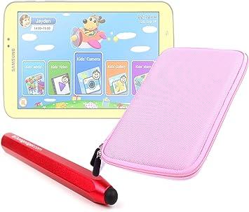 DURAGADGET Estuche Rosa Rígido con Cremallera para Tablet Samsung Galaxy 3 Kids + Lápiz Stylus Táctil Color Rojo: Amazon.es: Electrónica