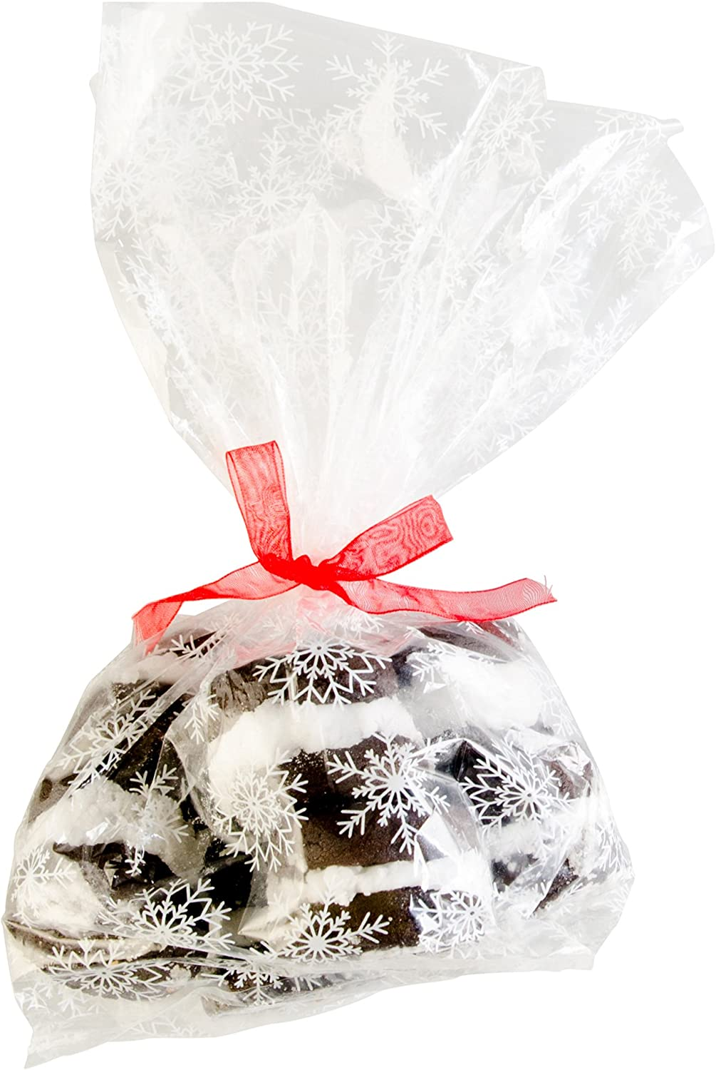 StarPack Premium Treat Bags, Party Favor Bags, Christmas Cookie Bags - Set of 20 (Large Size)