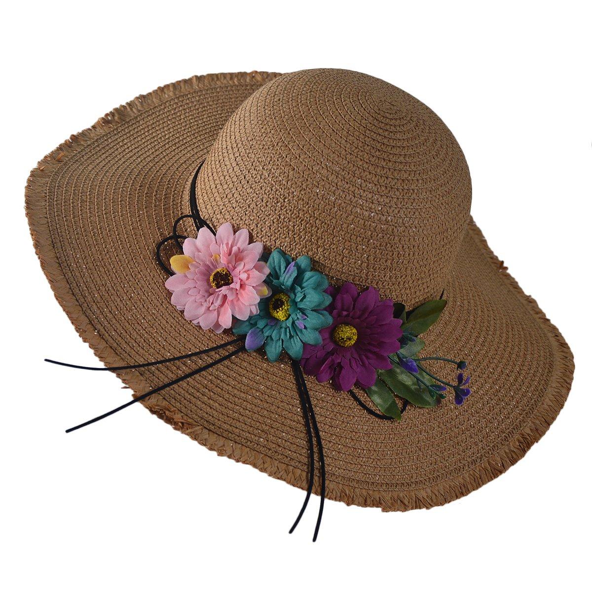 Newest trent Summer Beach Straw Hat Wide Brim Fishing Hat Folding Travel Beach Cap Fedora Sun Hats For Women