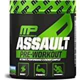 MusclePharm Assault Pre-Workout Powder for Energy, Focus, Strength and Endurance with Creatine, Taurine and Caffeine, Blue Raspberry, 30 Servings