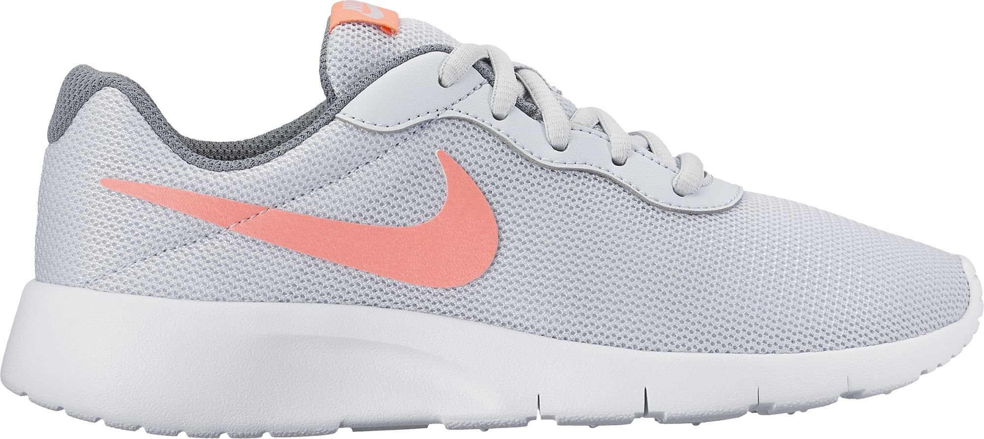 the best attitude 8feba ed0a2 Galleon - NIKE Kids Tanjun (GS) Platinum Lava Grey White Size 4.5