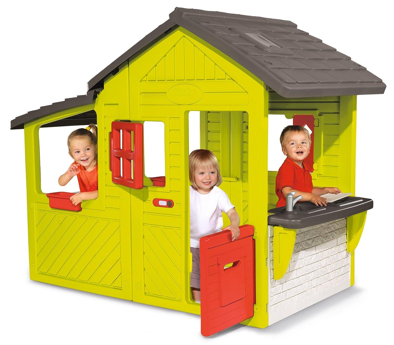 Spielhaus mit Terrasse - Smoby Neo Floralie Spielhaus