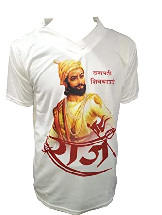 fbcce5f9 Runwal Cloth Store Men's Cotton Shiavji Maharaj Print T-Shirt  Multicolour_XXL: Amazon.in: Clothing & Accessories