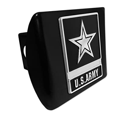 Elektroplate U.S. Army Star Black Metal Hitch Cover: Automotive
