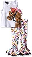 Mud Pie Little Girls' Horse Tunic and Legging
