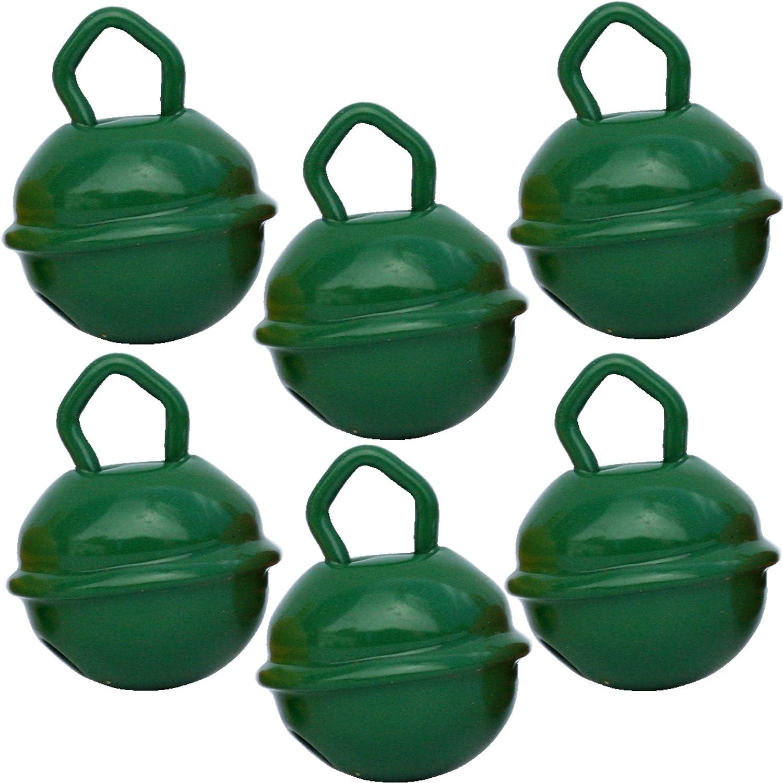 Cascabeles Verde Oscuro Pequeños (15mm x6 Campanillas de Bronce Musicales Sonoros) - 16 Colores MUSIKID (Bebe Niños) Para Manualidades Navidad Boda ...