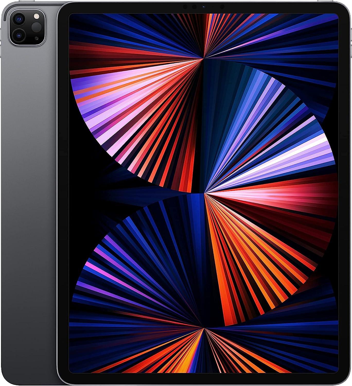 2021 Apple 12.9-inch iPad Pro (Wi‑Fi, 256GB) - Space Gray (Renewed)