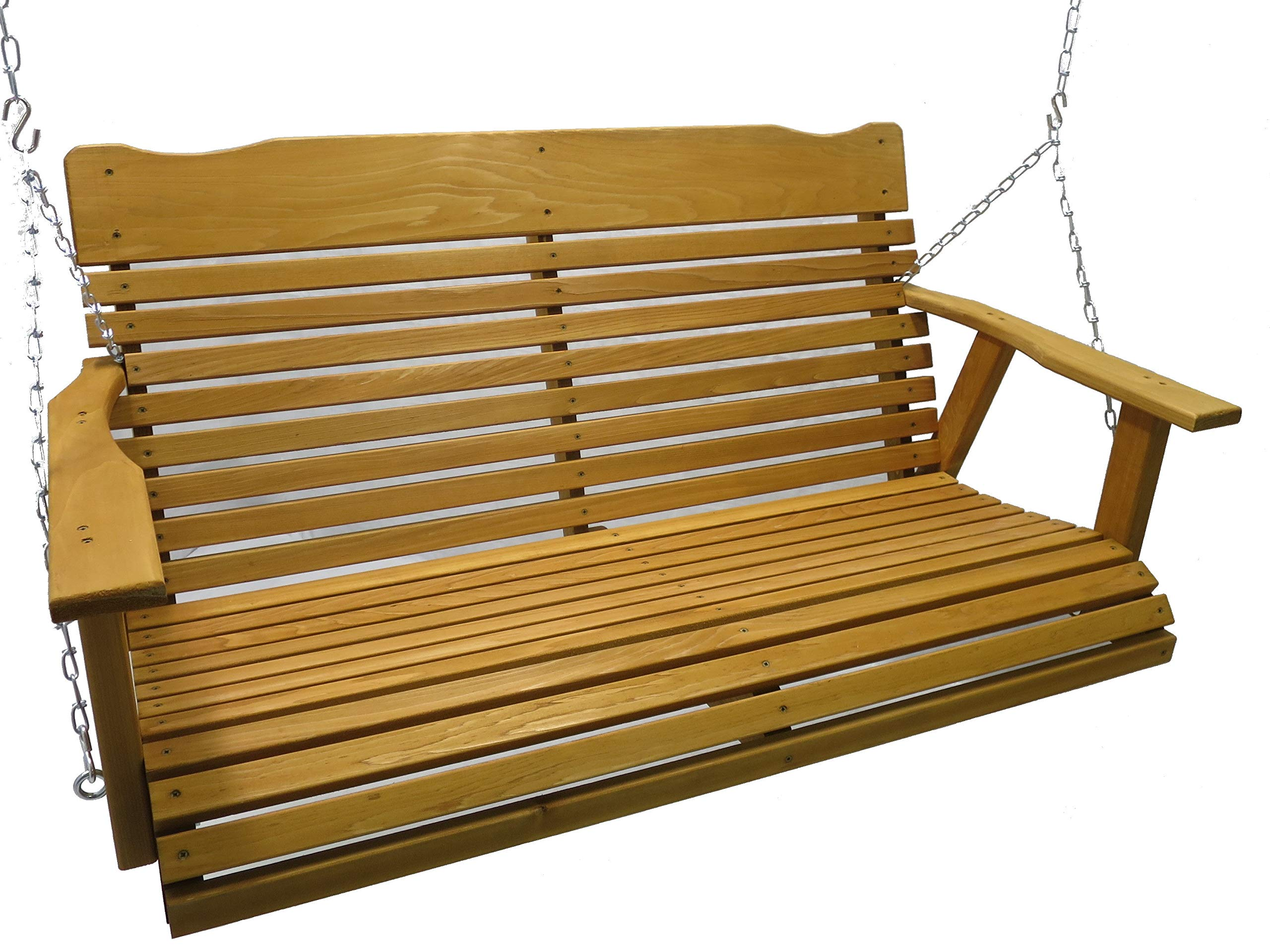 Kilmer Creek 4' Cedar Porch Swing W/stained Finish, Amish Crafted - Includes Chain & Springs by Kilmer Creek