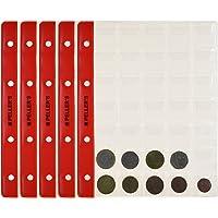 PELLER'S. Feuilles pour collection de pièces de monnaie, 27mm X 27mm (pour classeur M). Paquet de 10 pièces. 35 Pochettes pour monnaies jusqu'à 23 mm de diamètre.