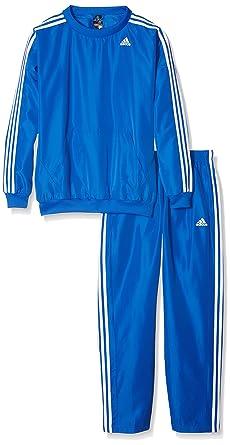 adidas TS Young Chandal, Hombre, Azul/Blanco, S: Amazon.es: Ropa y ...