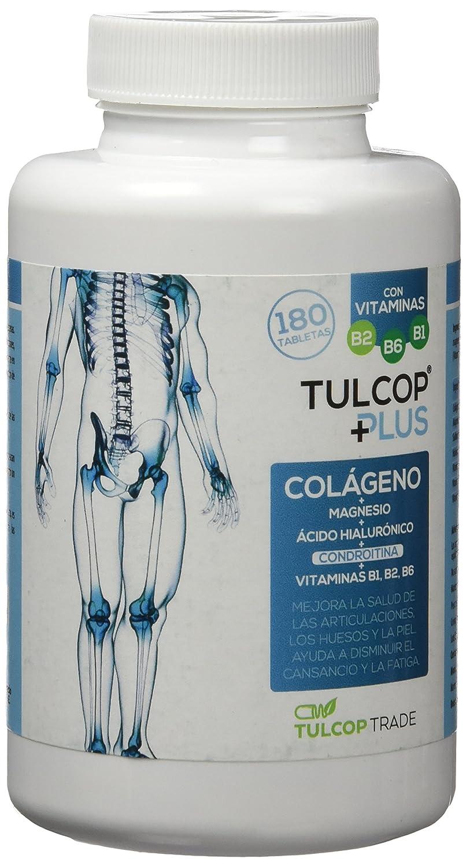 Tulcop Plus Polvo Colágeno con Magnesio, Ácido Hialurónico y Condroitina - 180 Capsulas: Amazon.es: Salud y cuidado personal