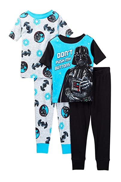 2d1effdf81 Amazon.com  Star Wars Boys 4 Piece Pajamas Set (Little Kid Big Kid ...