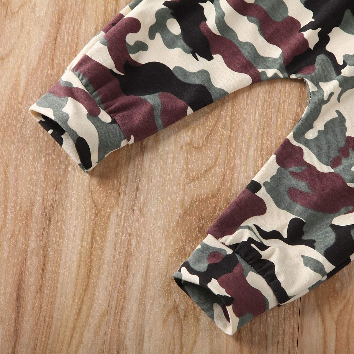 Toddler Baby Boys Camouflage Outfits 2 Pcs Black Long Sleeve Letter Shirt Top+Long Legging Pants Casual Clothes 0-3Y