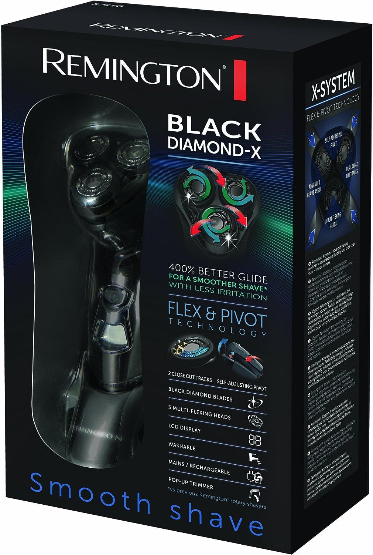 Remington Black Diamond-X - Afeitadora (Rotación, Negro, 1,5h, 5 min, 60 min): Amazon.es: Hogar