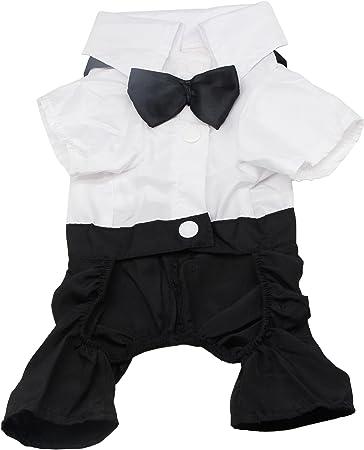 Amazon.com: qicheng & Lys perro ropa mascota elegante traje ...