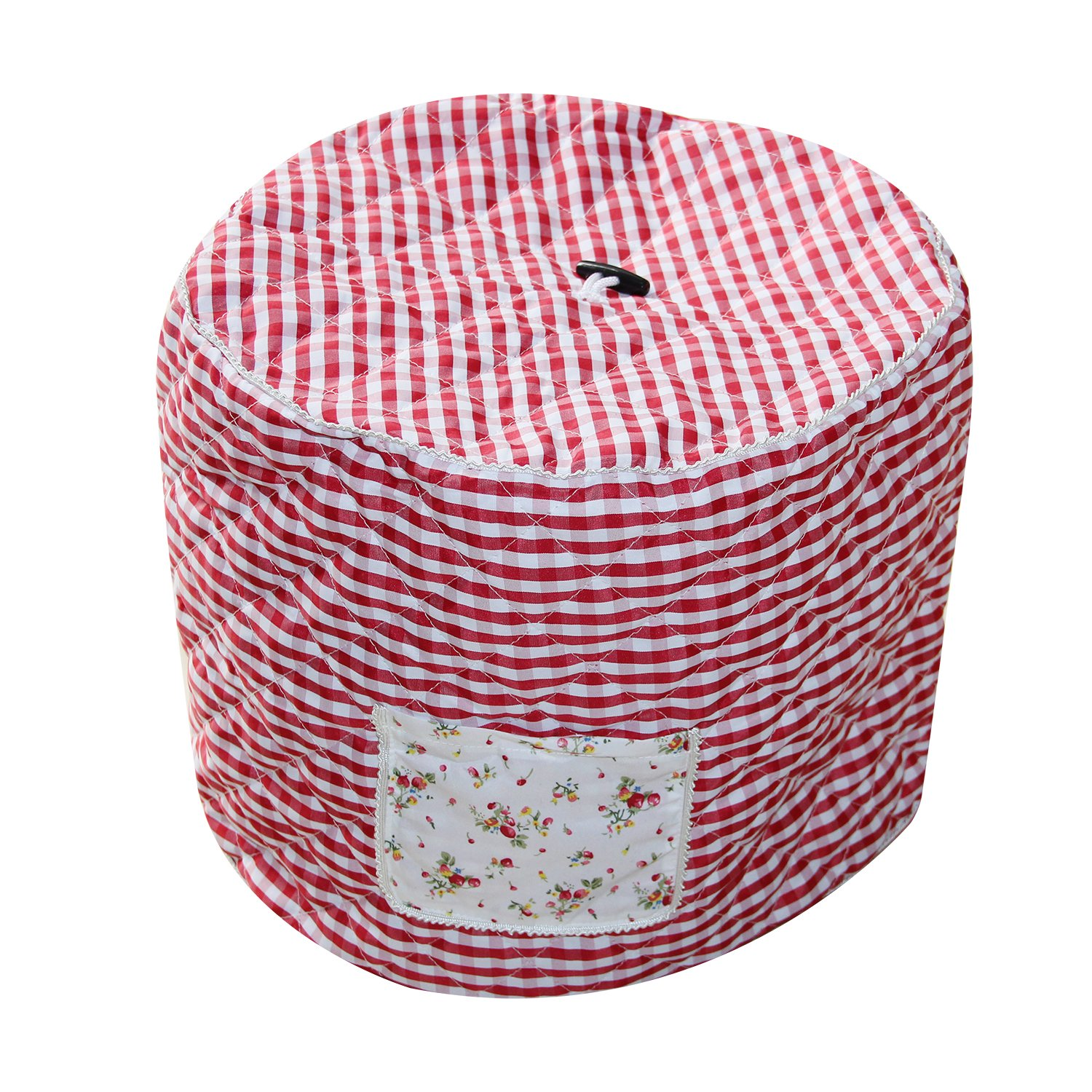 Lexvss Dust Cover, Anti-oil-smoke Cotton Bag for Electric Pressure Cookers, with Accessories Pocket, Family Essential Dust Cover for Instant Pot 6qt, by Lexvss【Red and White Gingham】 by lexvss (Image #2)