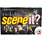 Scene It? Trivia DVD Board Game - TWILIGHT with DVD, Game Board, 4 Movers, 100 Trivia Cards, 20 Fate Cards, 4 Category…