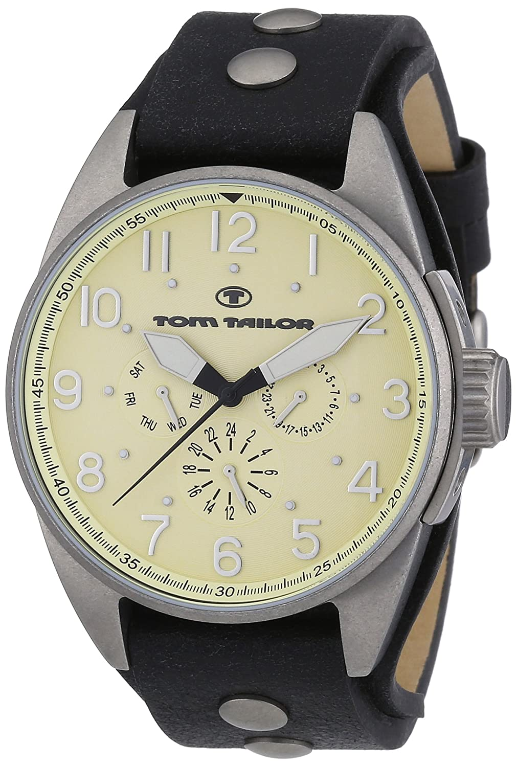 TOM TAILOR Herren-Armbanduhr XL Analog Quarz Leder 5405905