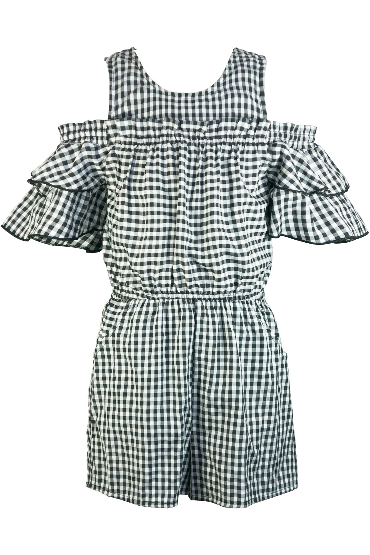 Truly Me, Charming Rompers (with Many Options), 4-6X, 7-16 (14, Black/White)