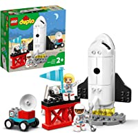 LEGO 10944 DUPLO Town Space Shuttle Mission Rocket Toy, Set for Preschool Toddlers Age 2+ with Astronaut Figures