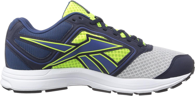 Reebok Zone Cushrun, Chaussures de Running Compétition Homme Multicolore Mehrfarbig Mtte Svr Slr Yllw Btik Blu Faux Indgo Wht Blk