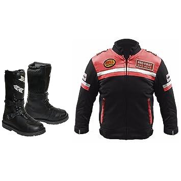 Bikerwear Chaqueta de moto para niños con zapatos largos Botas Ropa para niños Motocicleta Motocicleta Moto