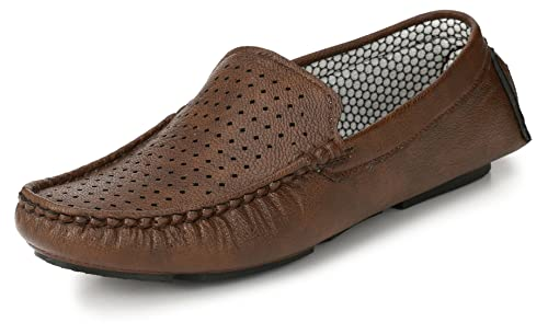 21272338215 Knoos Men s Brown Loafers - 7 UK  Buy Online at Low Prices in India ...
