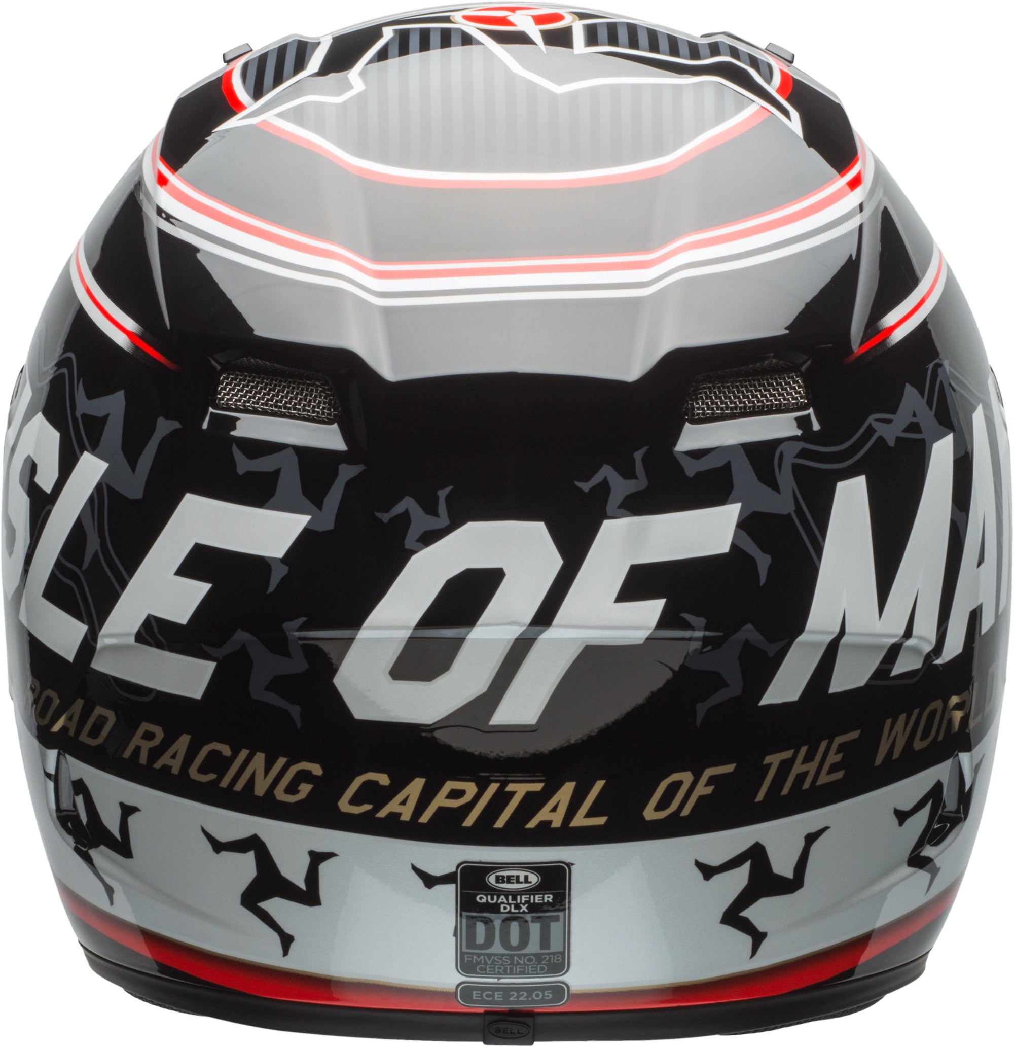 Bell Qualifier DLX Isle Of Man Black/Red Full Face Helmet - X-Large by Bell (Image #3)