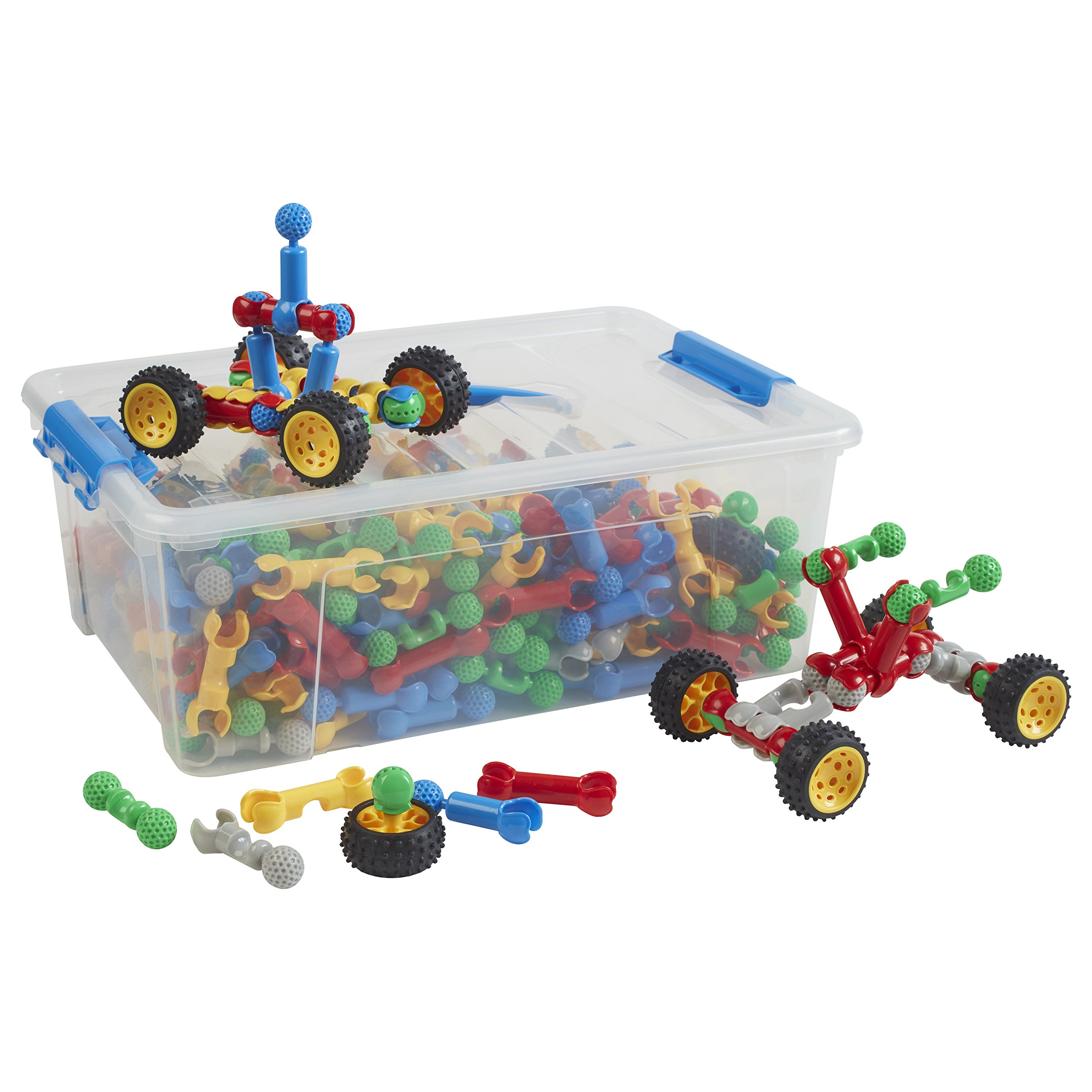 ECR4Kids Socket-to-Me Set Math Manipulatives Building Kit, Educational Sensory Learning Toys for Children (320-Piece Set) by ECR4Kids