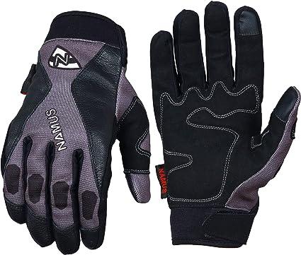 Namus Guantes Motocross, Guantes Moto Para Hombre y Mujer, Guantes Todoterreno, guantes deportivos con dedos completos, Pantalla táctil completa, ...