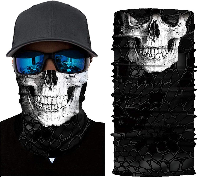 Fahrrad Tinke Bedrucktes Multifunktionstuch 3D Face Shields Bandana aus Mikrofaser f/ür Motorrad Wandern Verschiedene Muster Skifahren