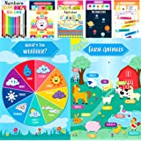 Youngever 12 Pack Laminated Educational Preschool Posters for Toddlers and Kids, Learning Posters, Classroom Posters…