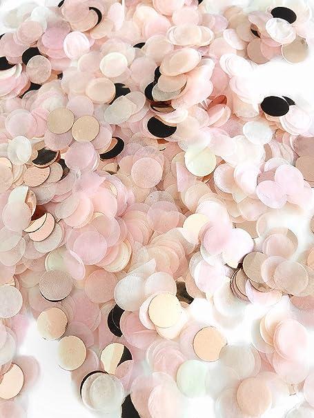 Konfetti Rosegold Mehrfarbig 1cm Rund 30g 1500 Stück Elegante Und Moderne Partydeko Geburtstag Hochzeit Baby Shower Silvester Küche Haushalt