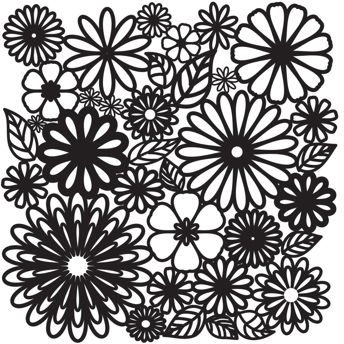 Crafters Officina 12 x 12 pollici Flower Frenzy modello, trasparente Crafters Workshop TCW-157