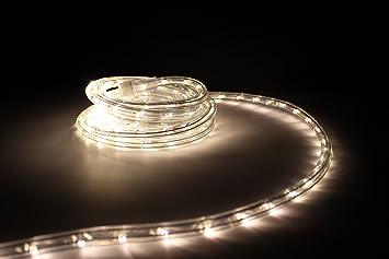 25Ft Rope Lights; Soft White LED Rope Light Kit; 1.0u0026quot;LED Spacing;