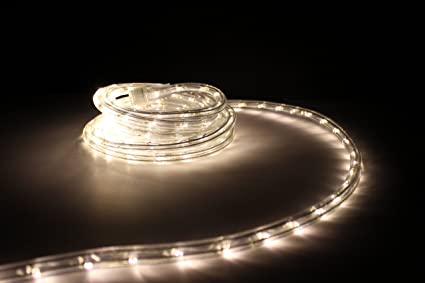25Ft Rope Lights; Soft White LED Rope Light Kit; 1.0u0026quot;LED Spacing; : christmas lights trade in at lowes - www.canuckmediamonitor.org