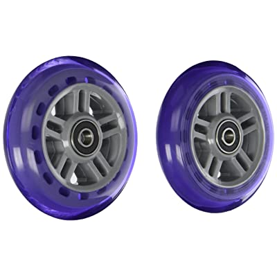 Razor PU A Scooter Series Wheels with Bearings - Set of 2 - Purple : Sports Scooter Wheels : Sports & Outdoors