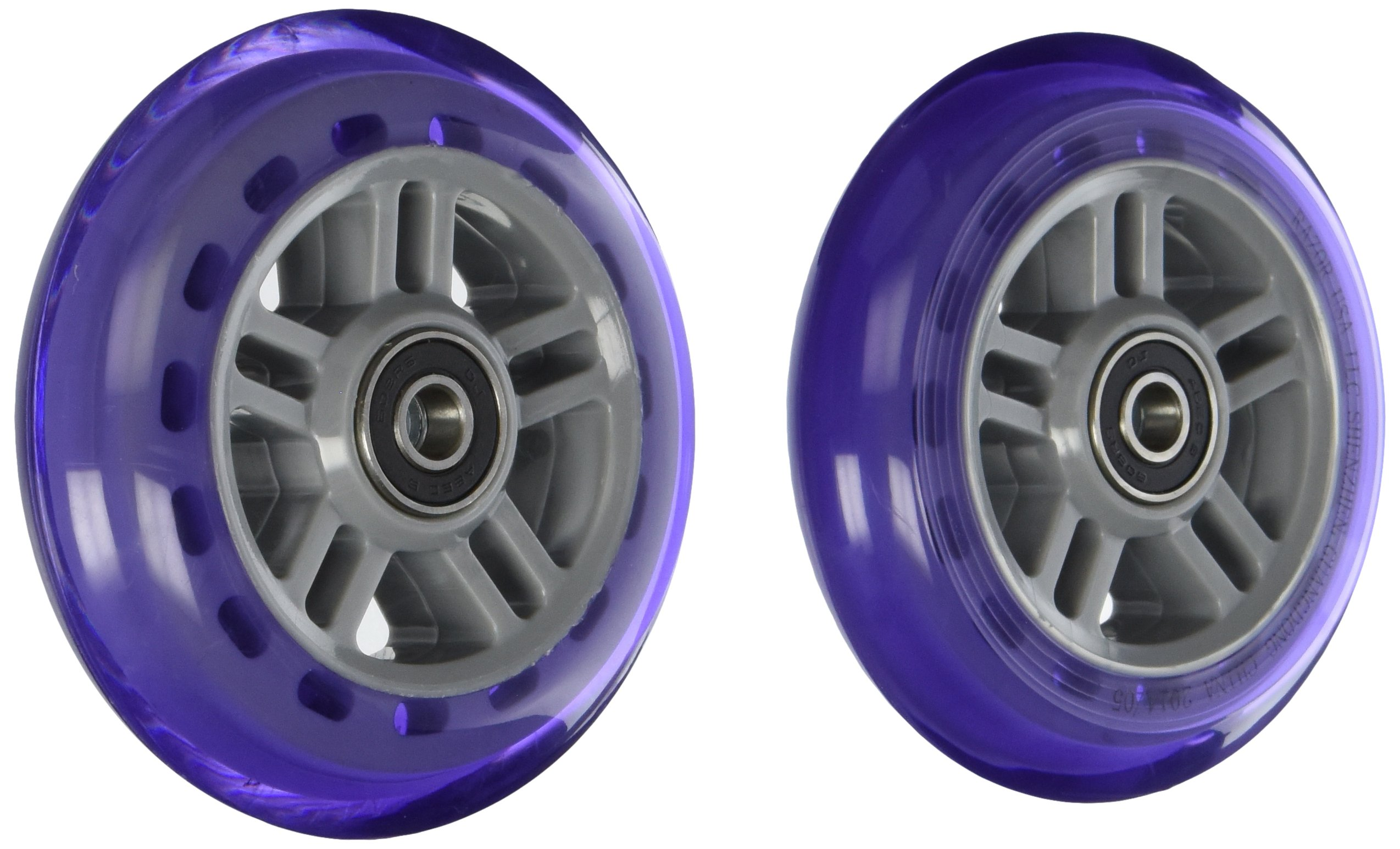 Razor PU A Scooter Series Wheels with Bearings (Set of 2), Purple
