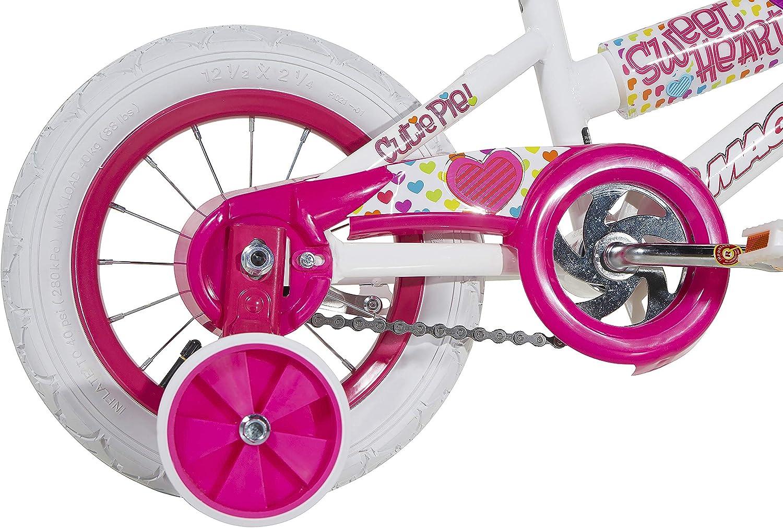 White//Pink Small Magna Girls 12 Sweet Heart Bike