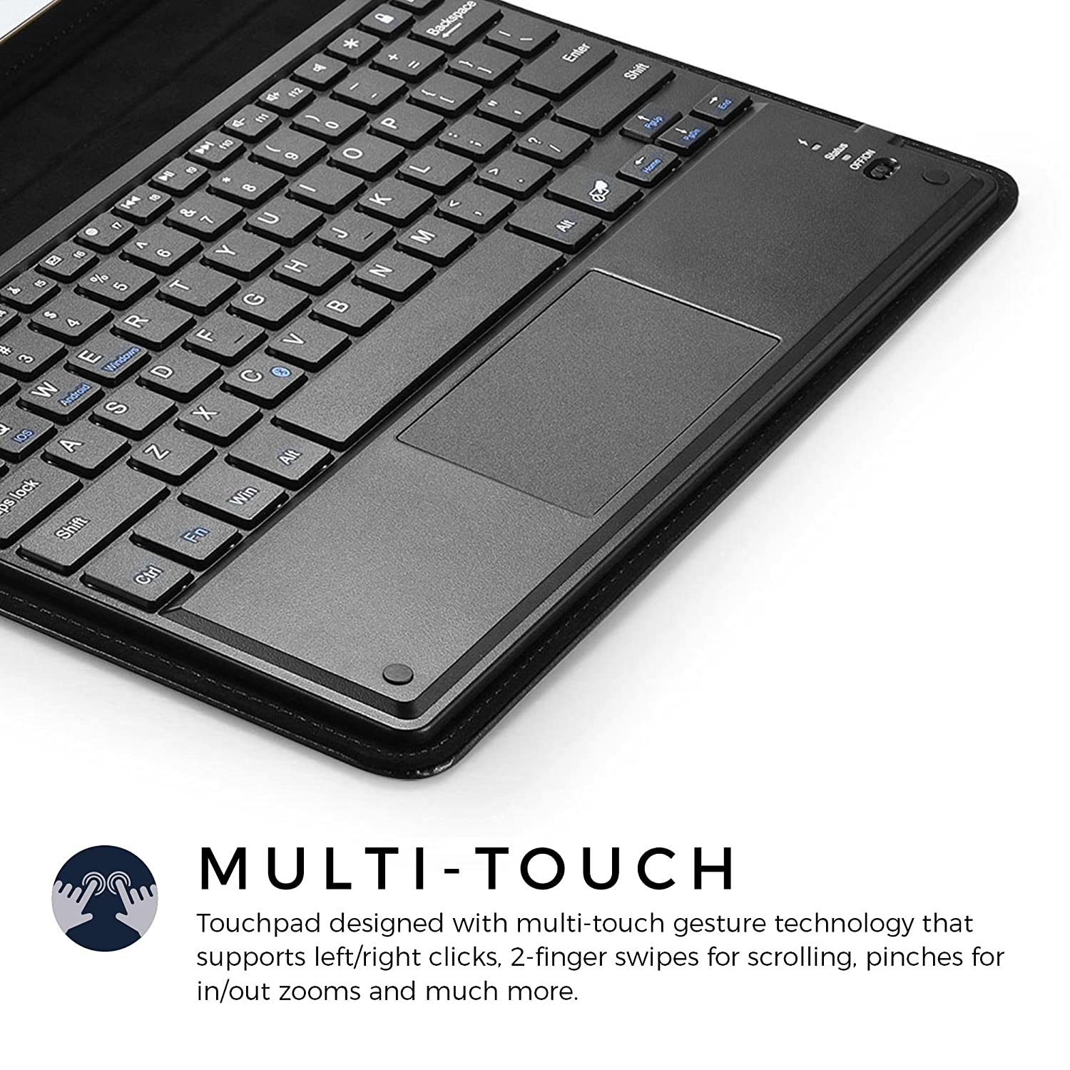 237efa0a7d Amazon | Sony Xperia Z2 Tablet Wi-Fi キーボード ケース COOPER TOUCHPAD EXECUTIVE 2- in-1 ワイヤレス Bluetooth キーボード マウス レザー トラベル Windows ...
