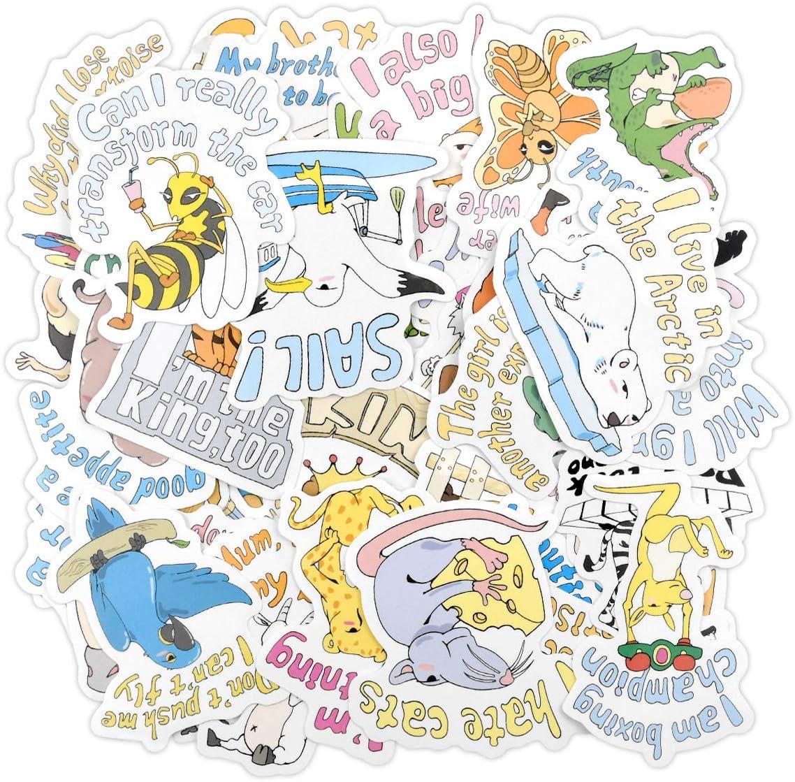 Dokpav Pack dAutocollants Graffiti Autocollant 50 pcs Stickers Autocollants Animaux Imperm/éable Vinyle Autocollants pour Bouteille deau Ordinateur Portable Enfants Voitures Moto v/élo Bagages