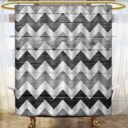 Amazon Anhounine Chevron Print Shower Curtain Zig Zag Lines