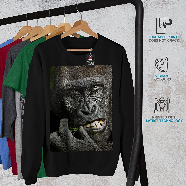Monkey Casual Jumper wellcoda Monkey Face Photo Mens Sweatshirt
